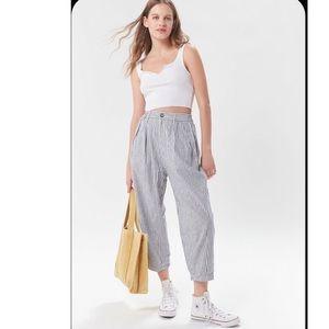 Zara basis Stripe denim Trouser sz 8